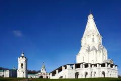 La chiesa dell'ascensione in Kolomenskoye l'eredità dell'Unesco fotografia stock libera da diritti