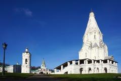 La chiesa dell'ascensione in Kolomenskoye l'eredità dell'Unesco immagini stock libere da diritti