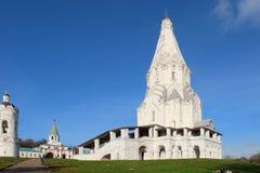 La chiesa dell'ascensione in Kolomenskoye l'eredità dell'Unesco fotografie stock libere da diritti