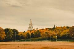 La chiesa dell'ascensione in Kolomenskoye, Mosca, Russia fotografie stock libere da diritti
