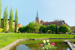 La chiesa dell'incrocio santo, Wroclaw, Polonia Fotografia Stock