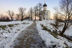 La chiesa dell'intercessione sul Nerl Immagine Stock Libera da Diritti