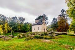 La chiesa della corte di Vlaska aka in Cetinje, Montenegro fotografia stock libera da diritti