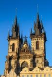 La chiesa della madre di Dio davanti a Tyn immagine stock