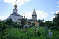 La chiesa della natività del vergine nel villaggio di Gorodnya Fotografia Stock Libera da Diritti