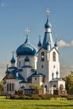La chiesa della natività in Srednyaya Rogatka in san-Petersb fotografia stock