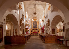 La chiesa della nostra signora sotto la catena, Praga Immagini Stock