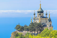 La chiesa della resurrezione di Cristo in Crimea Fotografie Stock