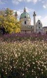 La chiesa della st Charles con i fiori Fotografia Stock