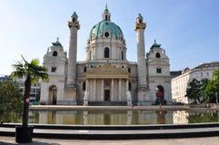 La chiesa della st il Charles (germe.: Karlskirche) Fotografia Stock