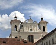 La chiesa dello Spirito Santo a Vilnius fotografie stock