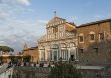 La chiesa di Al Monte di San Miniato Immagine Stock Libera da Diritti