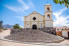 La chiesa di Angastaco, Salta, Argentina Immagini Stock Libere da Diritti