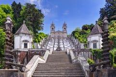 La chiesa di Bom Gesù fa Monte a Braga, Portogallo fotografie stock
