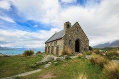 La chiesa di buon pastore accanto al lago Tekapo Immagine Stock Libera da Diritti