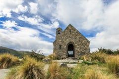 La chiesa di buon pastore accanto al lago Tekapo Fotografie Stock Libere da Diritti