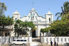 La chiesa di Conception de Ataco su El Salvador fotografia stock
