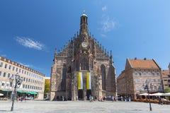 La chiesa di Frauenkirche delle signore a Norimberga, Baviera, Germania fotografie stock libere da diritti