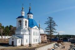 La chiesa di John Predtechi Distretto di Tobol'sk La Russia immagine stock libera da diritti