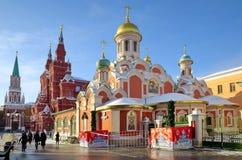La chiesa di Kazan sul quadrato rosso a Mosca, Russia Fotografia Stock Libera da Diritti