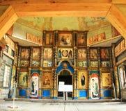 La chiesa di legno Fotografia Stock Libera da Diritti