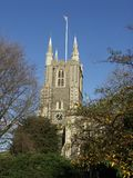 La chiesa di Minster della st John Baptist a Croydon, Surrey, Regno Unito immagine stock libera da diritti