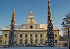 La chiesa di Mustasaari, Finlandia Immagini Stock
