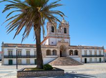La chiesa di Nossa Senhora da Nazare Nazare portugal Immagini Stock Libere da Diritti