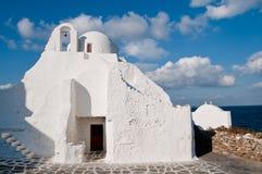La chiesa di Panagia Paraportiani Fotografia Stock