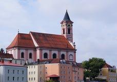Chiesa cattolica di St Paul in Passavia fotografie stock libere da diritti