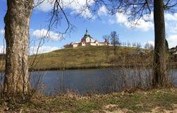 La chiesa di pellegrinaggio al hora di Zelena in repubblica Ceca, patrimonio mondiale dell'Unesco immagini stock