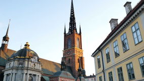 La chiesa di Riddarholmen stock footage