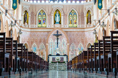 La chiesa di Roman Catholic Maephra Patisonti Niramon a Chanthabu Fotografia Stock Libera da Diritti