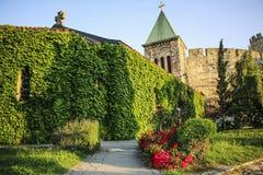 La chiesa di Ruzica è una chiesa ortodossa serba situata nella fortezza di Belgrado immagine stock libera da diritti