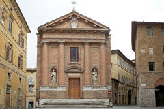 La chiesa di San Cristoforo, Siena, Toscana, Italia Immagine Stock Libera da Diritti