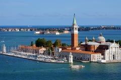 La chiesa di San Giorgio Maggiore a Venezia, Italia Fotografia Stock Libera da Diritti