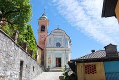 La chiesa di San Lorenzo, Muggio Fotografia Stock