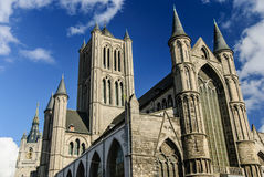 La chiesa di San Nicola, Gand, Belgio Fotografia Stock Libera da Diritti