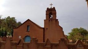La chiesa di San Pedro de Atacama, Cile immagini stock