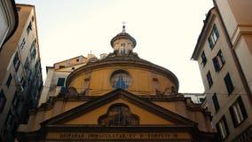 La chiesa di San Torpete, Piazza di San Giorgio, forum antico della città romana, Genova fotografia stock libera da diritti