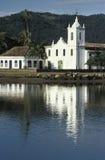 La chiesa di Santa Rita in Paraty, stato di Rio de Janeiro, reggiseno Immagini Stock