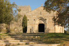 La chiesa di sao Miguel fa Castelo Guimaraes portugal Fotografia Stock Libera da Diritti
