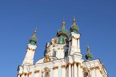 La chiesa di St Andrew, Kiev Immagini Stock Libere da Diritti