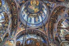La chiesa di St George a Oplenac, Serbia Immagine Stock