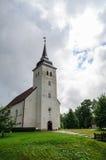 La chiesa di St John dopo pioggia, Viljandi, Estonia fotografia stock libera da diritti