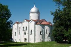 La chiesa di St John il battista su Opoki in Veliky Novgorod Immagini Stock Libere da Diritti