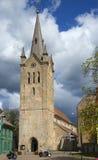 La chiesa di St John nel vecchio Wenden Cesis, Latvia fotografia stock