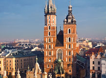 La chiesa di St Mary a Cracovia Fotografia Stock