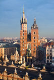 La chiesa di St Mary a Cracovia Fotografie Stock