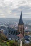 La chiesa di St Mary in Marburgo, Germania Fotografia Stock Libera da Diritti